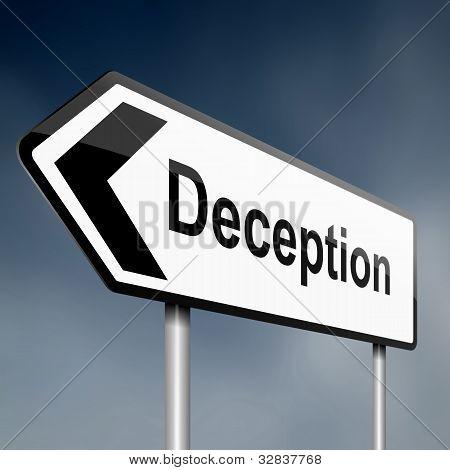 Deception Concept.