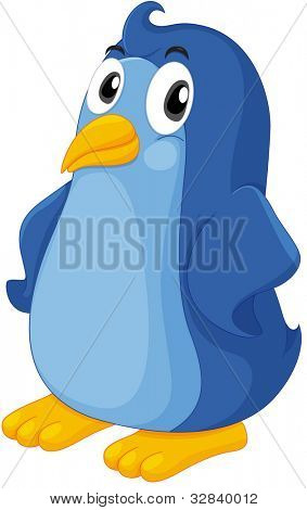 Illustration of a comical penguin - EPS VECTOR format also available in my portfolio.