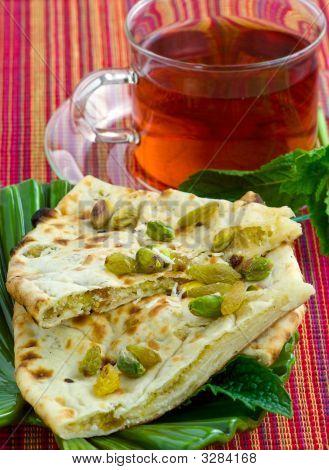 Tasty Peshwari Naan. Indian Flatbread.