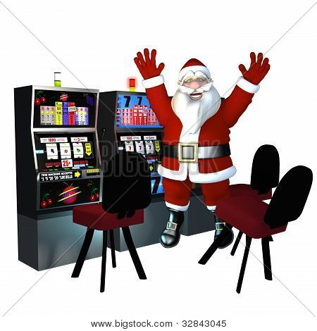 Santa Playing Slots - Winner