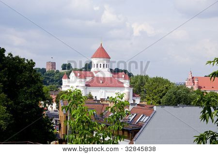 Vilnius Oldtown Buildings. Gediminas Castle.
