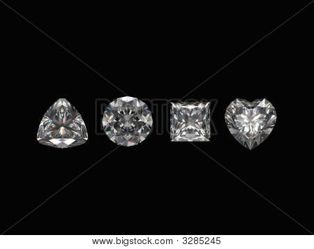 Diamonds On Black