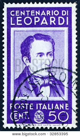 Postage stamp Italy 1937 Giacomo Leopardi, poet