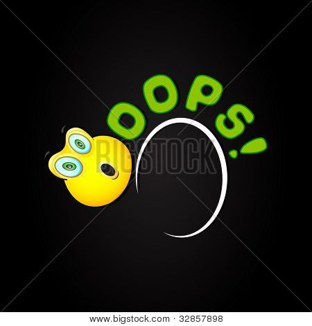 illustration of oops background with shocked smiley