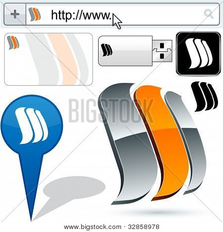 Business sails vector abstract signs represented in different usages.