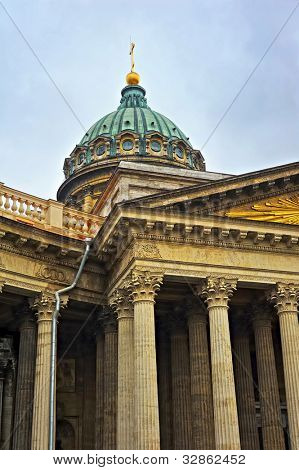 Kazan Cathedral or Kazanskiy Kafedralniy Sobor in the Saint Petersburg city