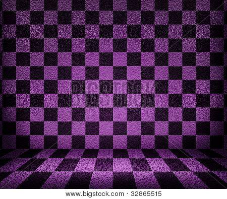 Violet Chessboard Room Background