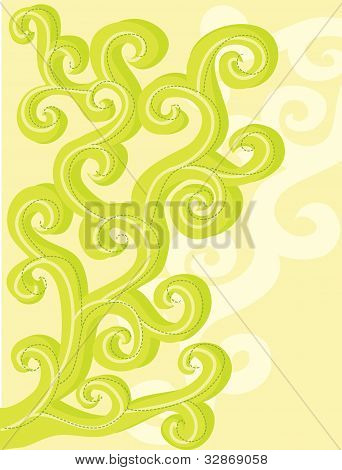 Abstract vector floral curls.