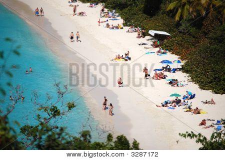 Bathers On White Beaches