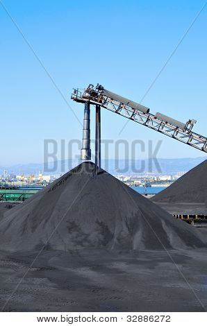 closeup of the facilities of a coal industry