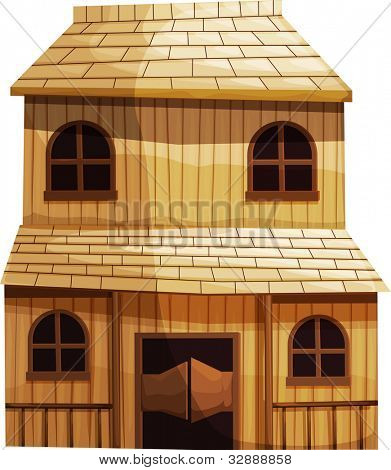 Illustration of an isolated building from the Wild West - EPS VECTOR format also available in my portfolio.
