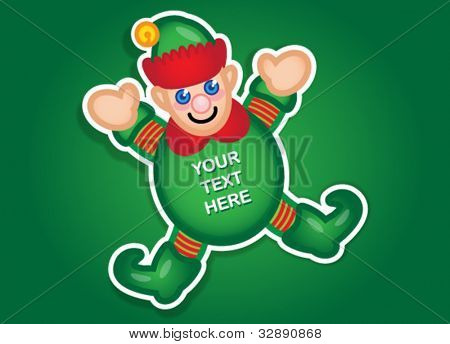 Santa's Elf vector sticker