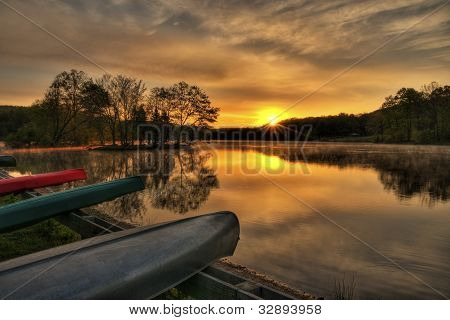 Canoe Sunrise