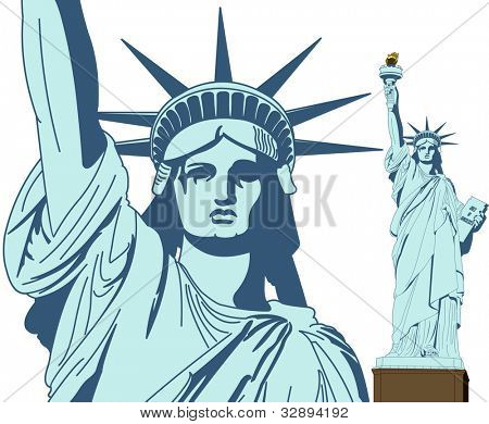 Statue of Liberty in Vector Art with very high detail level