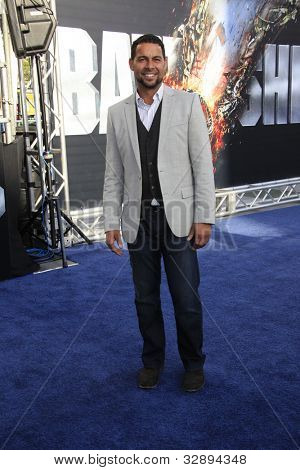 LOS ANGELES - MAY 10: Jon Huertas at the premiere of Universal Pictures' 'Battleship' at The Nokia Theater L.A. Live on May 10, 2012 in Los Angeles, California