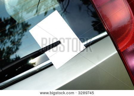 Leaflet Behind Car Wiper