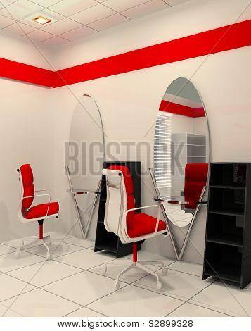 Workplace In Salon Of Beauty