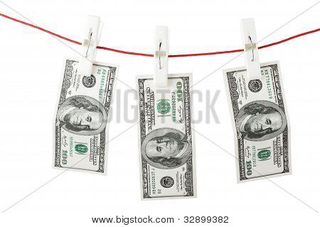 Dollars With Clothespins