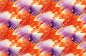 Tie-dye Pattern Of Yellow And Red  Color On White Silk. Hand Painting Fabrics - Nodular Batik. Shibo poster