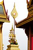 stock photo of crematory  - Angel statue Cremation of Her Royal Highness Princess Bejaratana at Sanam - JPG