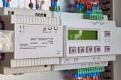 Power Supply And Controller For Remote Control In Electrical Cabinet. Programmable Relay With Contro poster