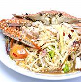 Thai Popular Dishes, Spicy Papaya Salad poster