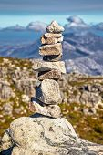 Rock formation arranged in Cape Point in Cape town, South Africa poster