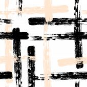 Brush Stroke Texture. Pastel Seamless Stroke Background. Abstract Pattern. Colorful Brush Stroke Tex poster