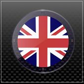 Bright Transparent Button With Flag Of England. Bright Illustration With Flag. Happy England Day Ban poster