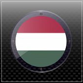 Bright Transparent Button With Flag Of Hungary. Happy Hungary Day Button. Bright Button With Flag. I poster