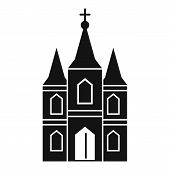 Europe Church Icon. Simple Illustration Of Europe Church Vector Icon For Web Design Isolated On Whit poster