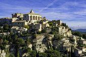 Medieval Hilltop Town Of Gordes. Provence, Luberon National Park. poster