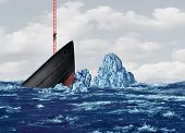 Business Exit And Strategy To Leave Or Abandoning A Sinking Ship As A Corporate Metaphor For A Way O poster