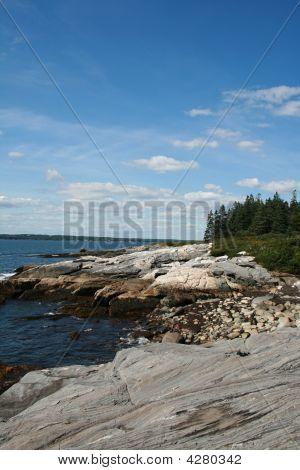 Rocky Oceanside Ledge,  Maine