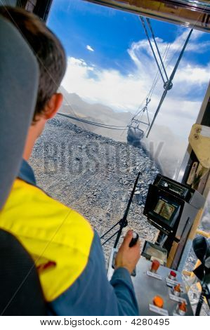 Dragline Operator In Coal Mine