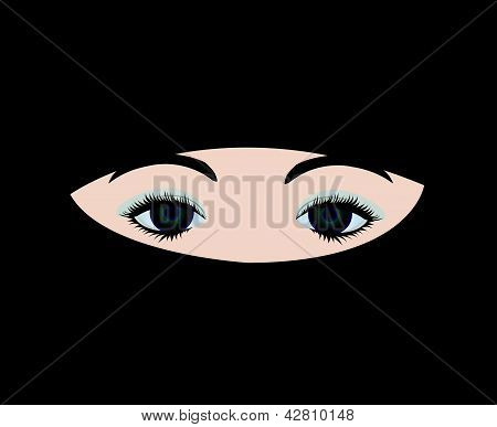 muslim girl in veil vector
