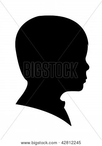 child head silhouette