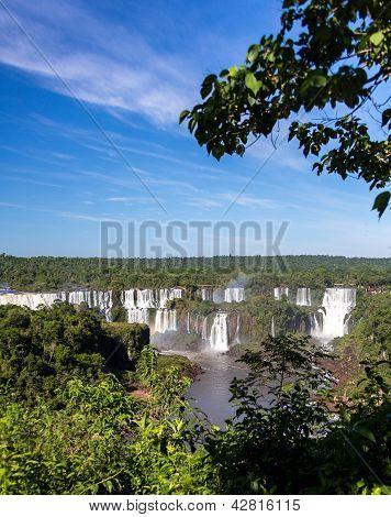 Iguassu Falls, Brazil from Afar