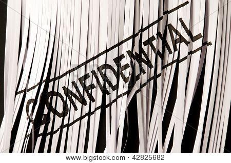 Shredding confidential document