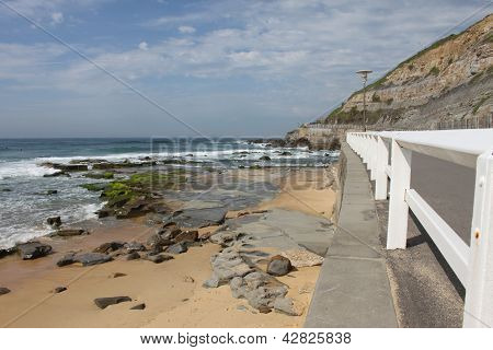 Seascape Of Newcastle Beach In Australia