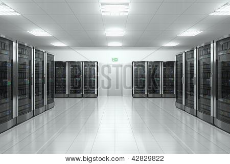 Server room in datacenter