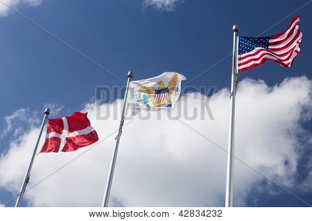 Flags Of Usvi In St Thomas