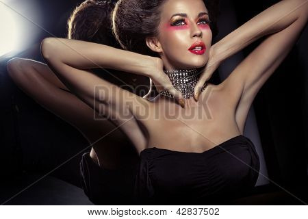 Portrait of a fashionable beauty