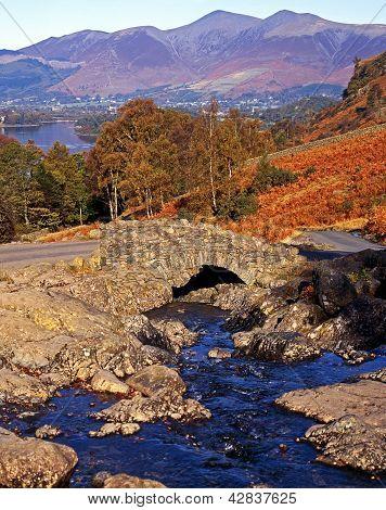 Small stone bridge, Lake District, England.