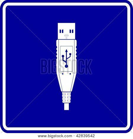 USB plug sign