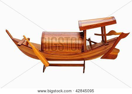 The model boat wood