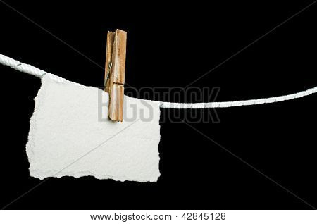 Note Paper Hooked On A Rope