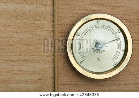 Hydrometer On Wooden Background