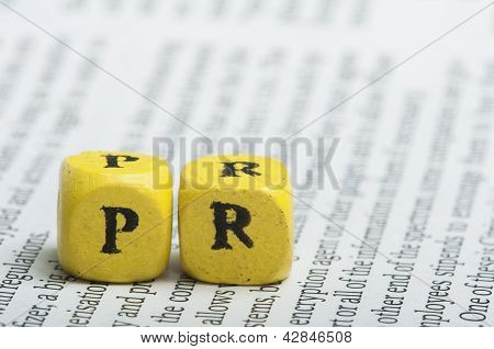 Word Pr.wooden Cubes On Magazine
