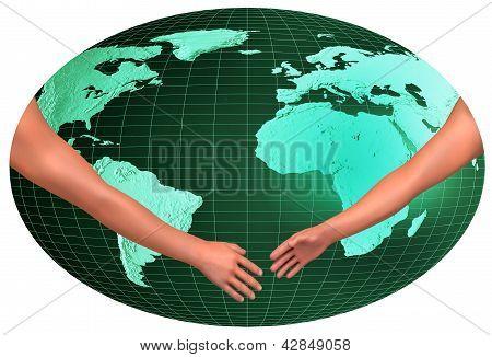 Handshake Over World